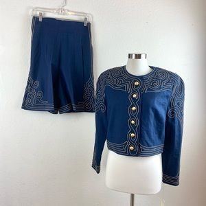 Marie St. Claire   Vintage Shorts and Jacket Set